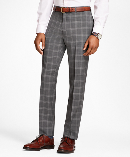 Men's Vintage Pants, Trousers, Jeans, Overalls Plaid Wool Suit Trousers $99.00 AT vintagedancer.com
