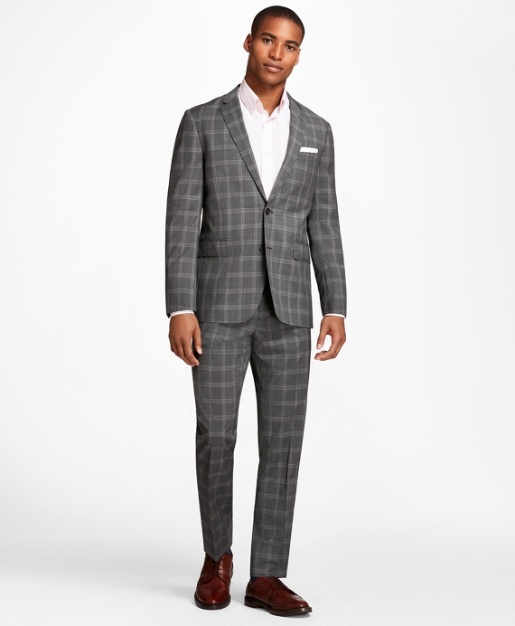 Men's Vintage Style Suits, Classic Suits Plaid Wool Suit Trousers $140.00 AT vintagedancer.com