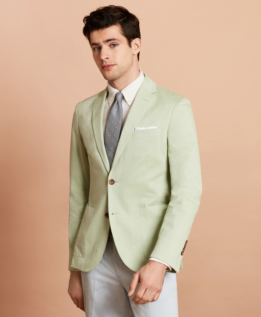 1960s Mens Suits | 70s Mens Disco Suits Brooks Brothers Mens Stretch-Cotton Sport Coat $198.00 AT vintagedancer.com