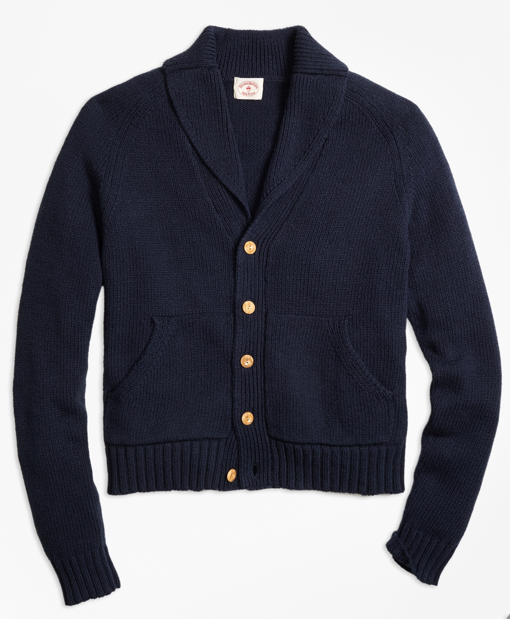 Men's Vintage Style Clothing Brooks Brothers Mens Shawl Collar Cardigan $128.00 AT vintagedancer.com