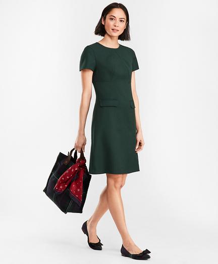 1960s Dresses | 60s Dresses Mod, Mini, Jakie O, Hippie Double-Faced Stretch Wool Dress $158.00 AT vintagedancer.com