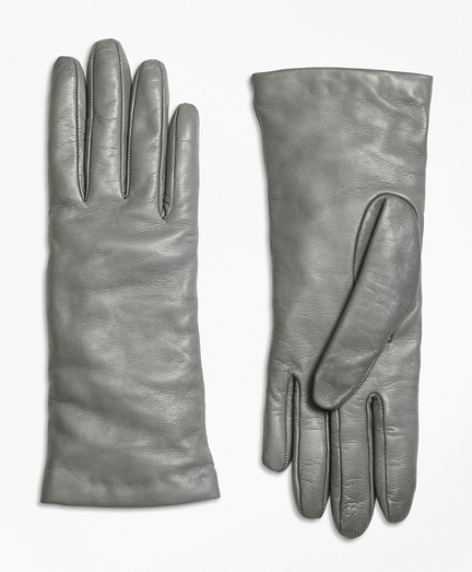 Victorian Gloves | Victorian Accessories Cashmere Lined Leather Gloves $138.00 AT vintagedancer.com