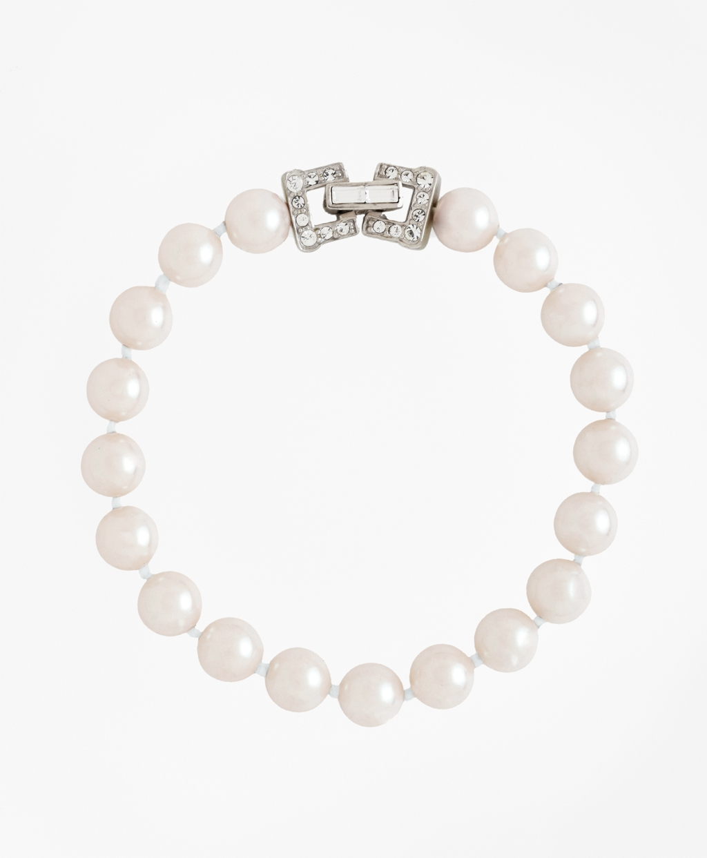 1930s Jewelry | Art Deco Style Jewelry Brooks Brothers Womens Glass Pearl Bracelet $148.00 AT vintagedancer.com