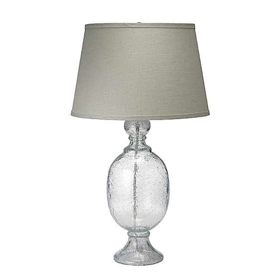 St Charles Table Lamp Small Seeded Gl