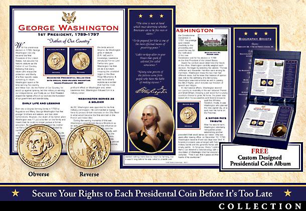 U.S. Presidential Dollar Coin Collection: Uncirculated Collectible Commemorative Coins - Brilliant Uncirculated Presidential Coin Collection Honors Americas Greatest Leaders Including Washington, Lincoln, More!