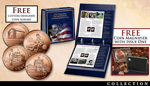 CommemoCommemorative Bicentennial Lincoln Cent Coins With Albumrative Bicentennial Lincoln Cent Coins With Album