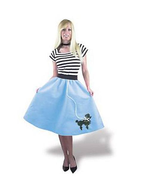1950s Blue Poodle Skirt Women's Costume