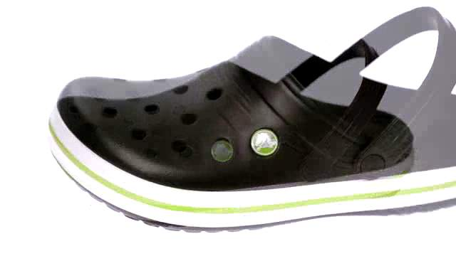 BRAND NEW! with rainbow bottom band Kids sizes of Blue crocs