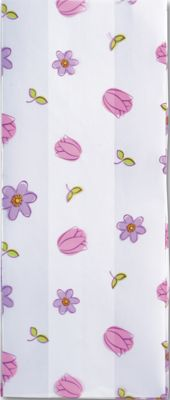 Simply Flowers Cello Bags, 4 x 2 1/2 x 9 1/2'
