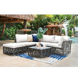 Panama Jack® Graphite 6-Piece Sectional