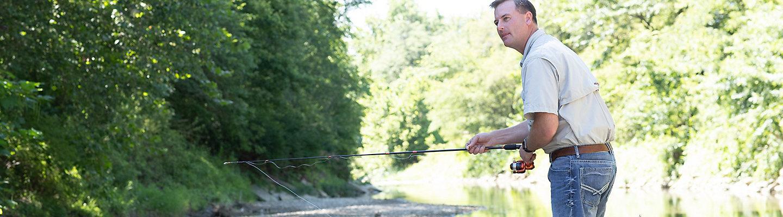 Curtis Hoffbeck fishing