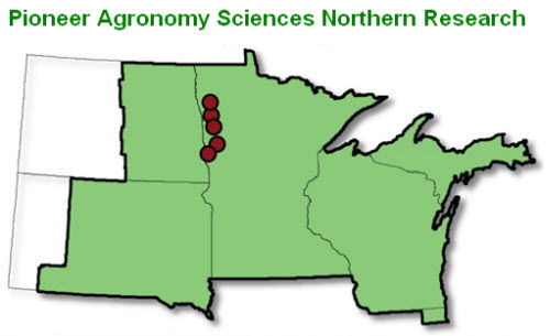 Pioneer Agronomy Sciences Northern Research map