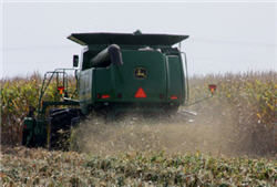 Even residue distribution across the entire corn harvest swath can help avoid stand establishment issues in the spring.