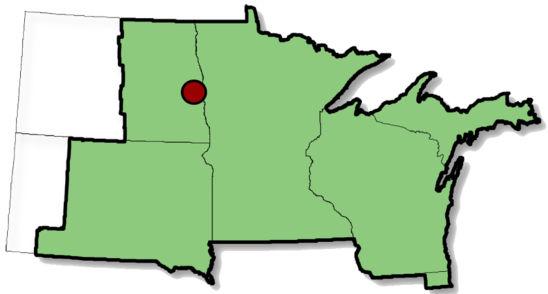 Map: North Dakota location