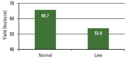 Effect of planting date on soybean yield.