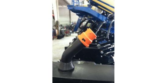 Install orange cap on mini-hopper hose inlet