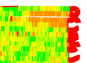 Yield monitor mapap showing significant mapping errors.