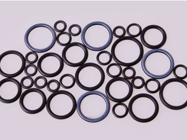 O-rings made with high-performance Kalrez®.