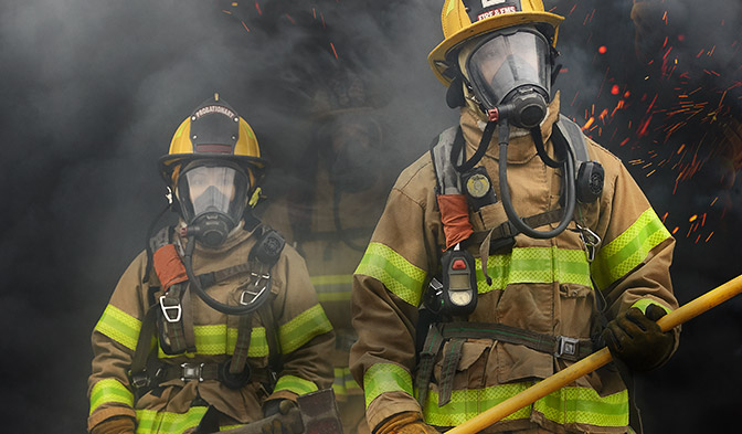 Firefighters rely on DuPont™ Nomex® to meet all NFPA standards