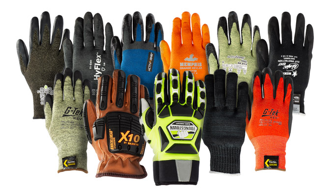 Gloves made with DuPont™ Kevlar® come in a variety of colors