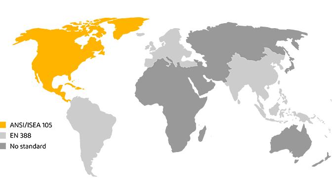 Weltweite Schnittschutzstandards nach ANSI/ISEA und EN 388