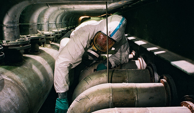 DuPont™ coveralls made from Tyvek® provides superior barrier protection