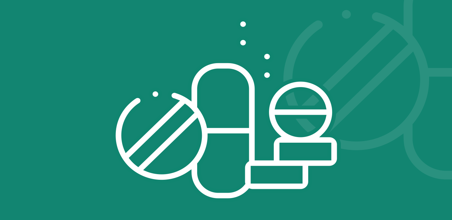 Icon of various dietary supplements products and dosage forms.