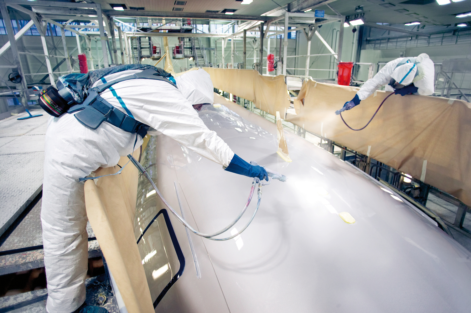 AIRBUS workers protected with Tyvek® & Tychem®