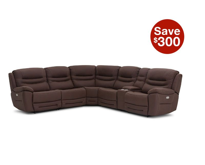 Lounge 6pc Power Reclining Sectional