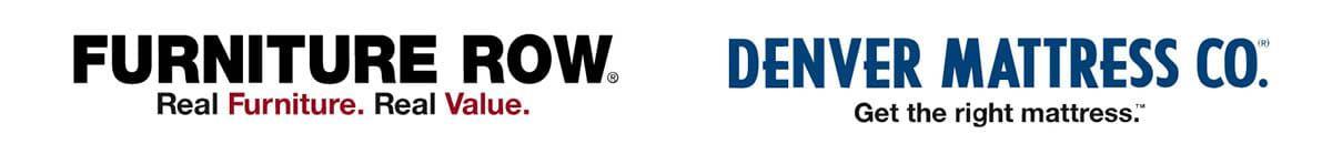 Denver Mattress and Furniture Row Logos