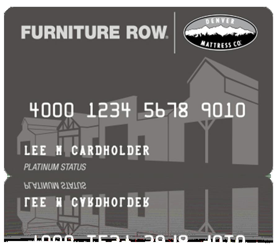 Furniture Row Credit Card