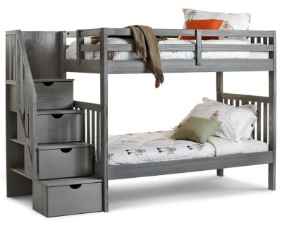 Dove Bunk Bed With Staircase Furniture Row