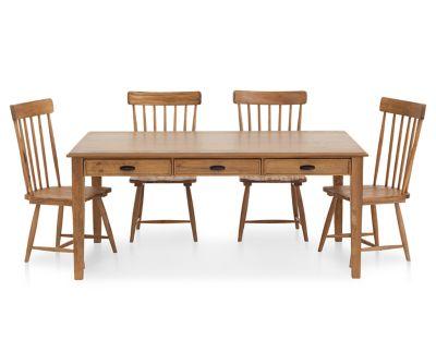Magnolia Home 5 Pc. Farmhouse Dining Set With 6u0027 Brown Table   Furniture Row