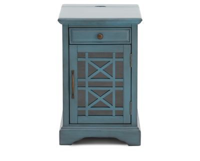 Holmes Power Chairside End Table Furniture Row