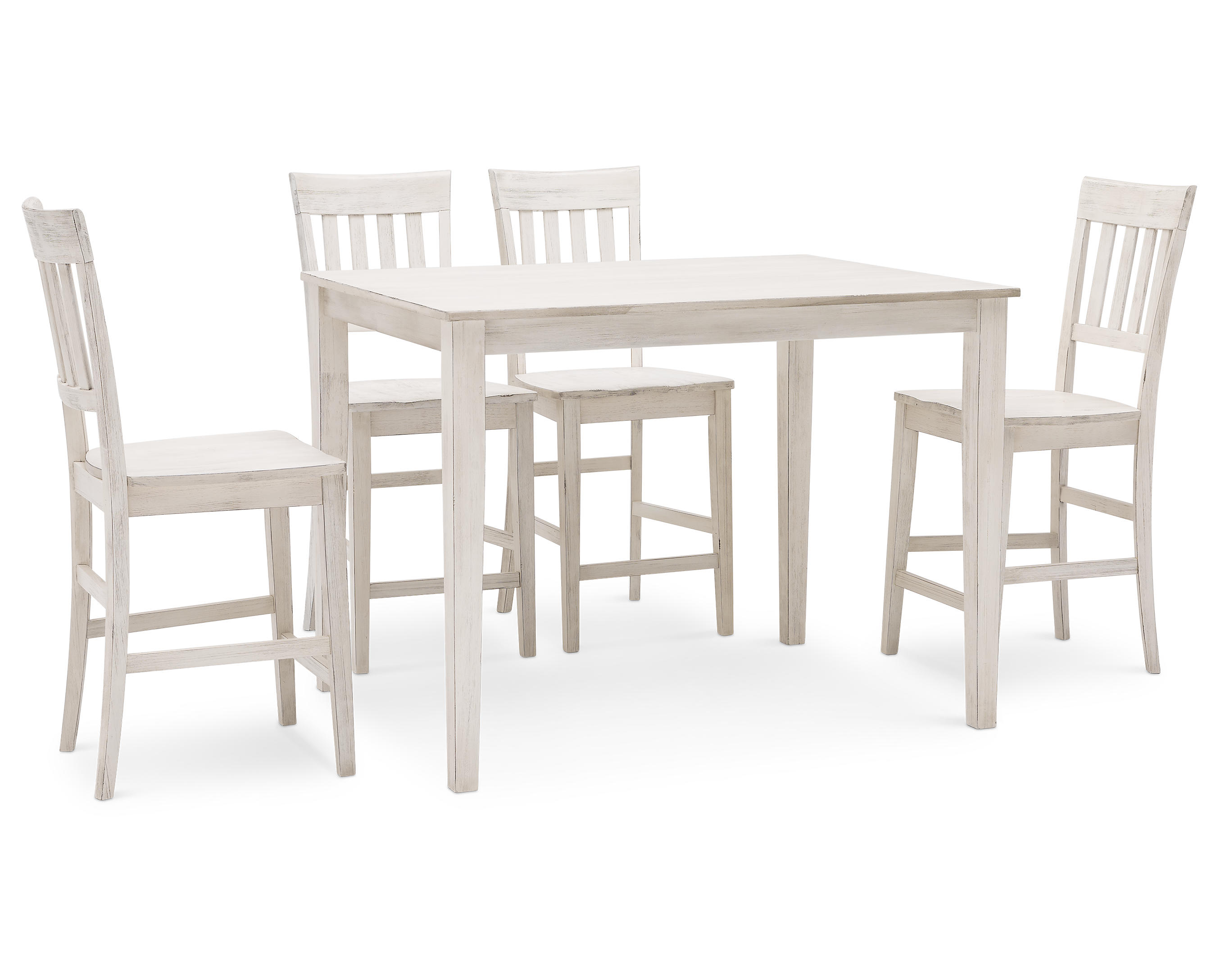 Latte 5 Pc Counter Height Dining Room Set Furniture Row