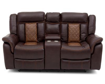 Martinsville Reclining Console Loveseat Furniture Row