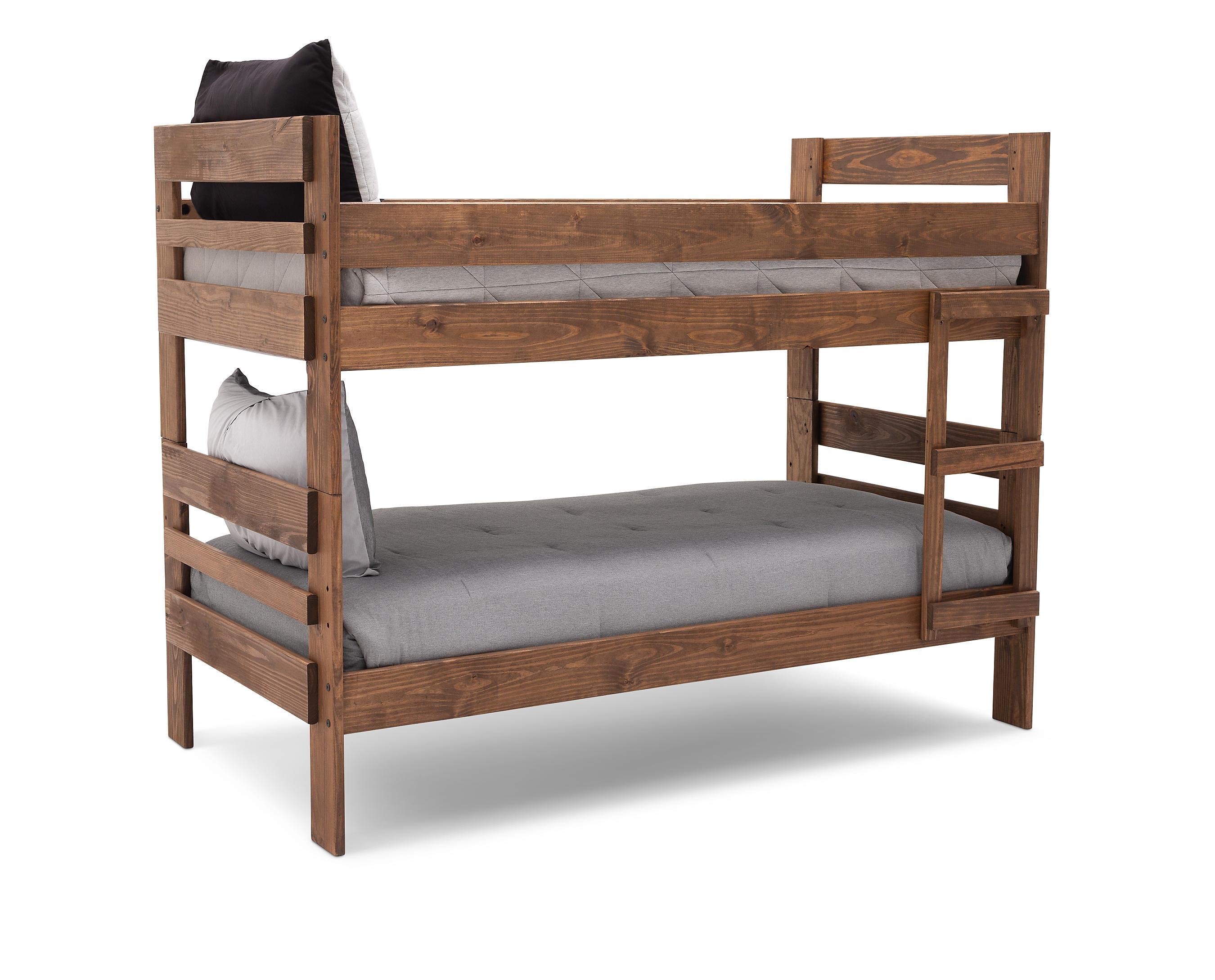 Moab Twin Twin Bunk Bed Furniture Row
