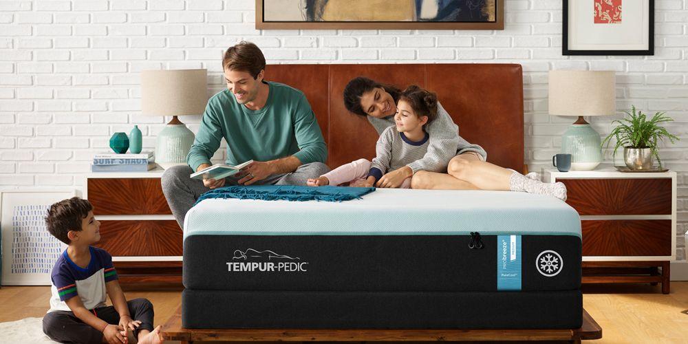Family with Tempur-Pedic Breeze Mattress