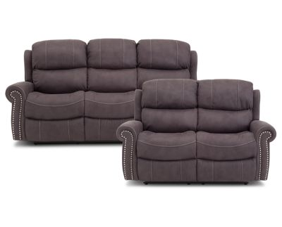 Walden Reclining Sofa Set Furniture Row