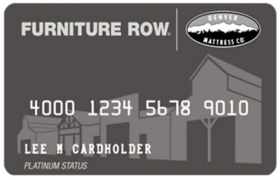 Furniture Row Credit Card
