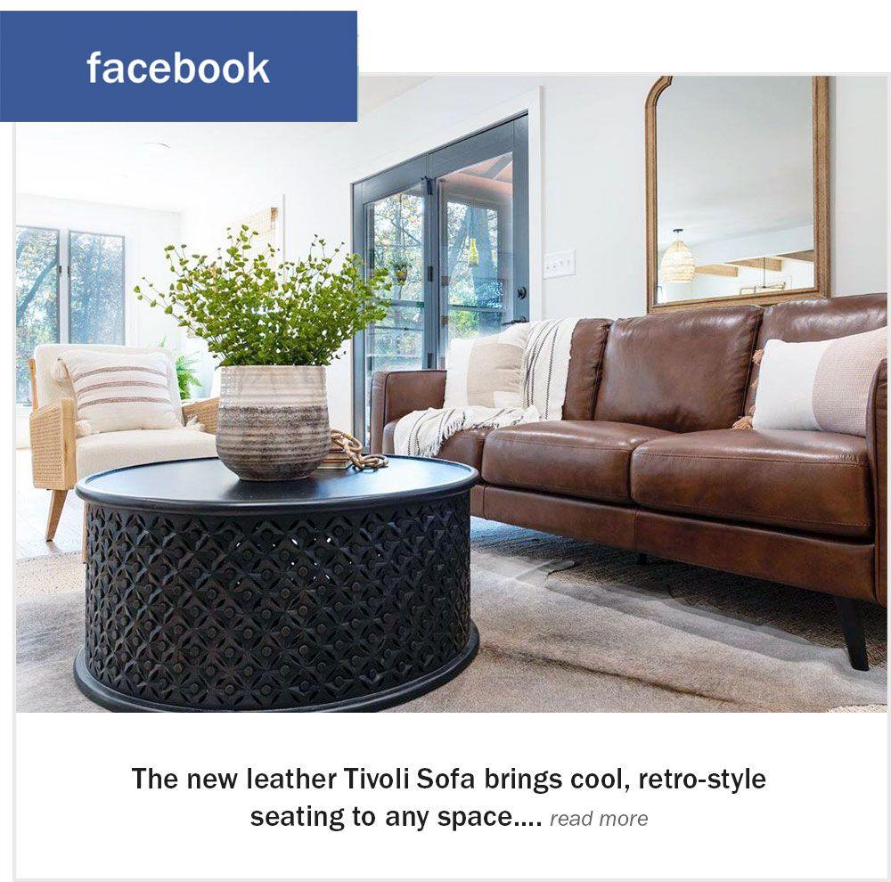 Tivoli Leather Sofa Facebook Post