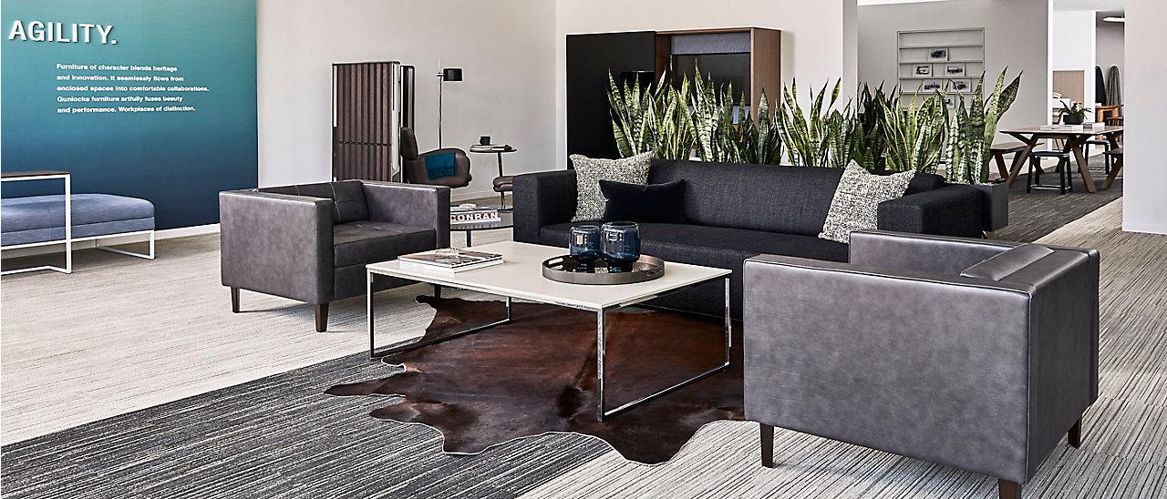 Dallas Showroom Gunlocke Office Furniture Wood Casegoods Desking