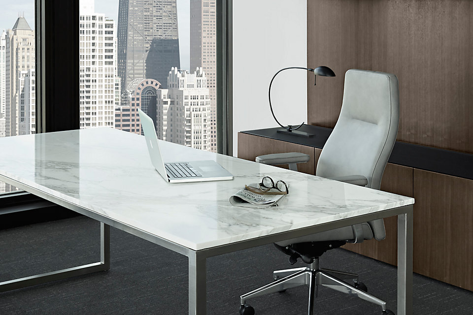 Credentials Freestanding Marble Desk Gunlocke Office