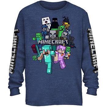 de3d7d1d Boys Crew Neck Long Sleeve Minecraft Graphic T-Shirt Preschool / Big Kid.  Add To Cart. Few Left