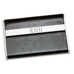 Engravable Leather Business Card Case