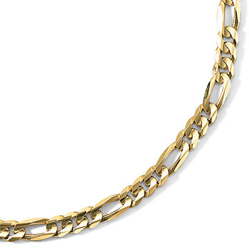 Mens fine necklaces pendants for jewelry watches jcpenney mens 10k gold 22 65mm figaro necklace aloadofball Image collections