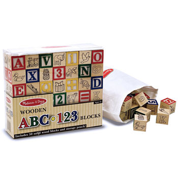 Melissa & Doug Wooden Abc/123 Blocks (Uc)