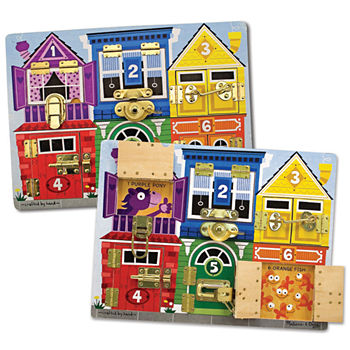 Melissa & Doug Latches Learning Board