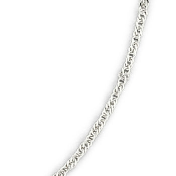 PRIVATE BRAND FINE JEWELRY Made in Italy Sterling Silver 24 3.75mm Rope Chain 5Ytr65aA