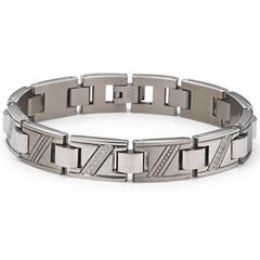 Men's Diamond Bracelet 1/10 CT. T.W. Stainless